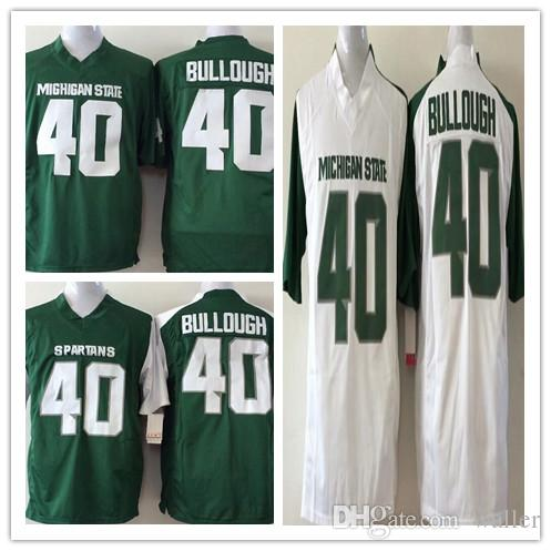 2018 factory outlet stitched ncaa college jerseys michigan state spartans 40 max bullough jersey color green white m xxxl from waller 18.15 dhgate