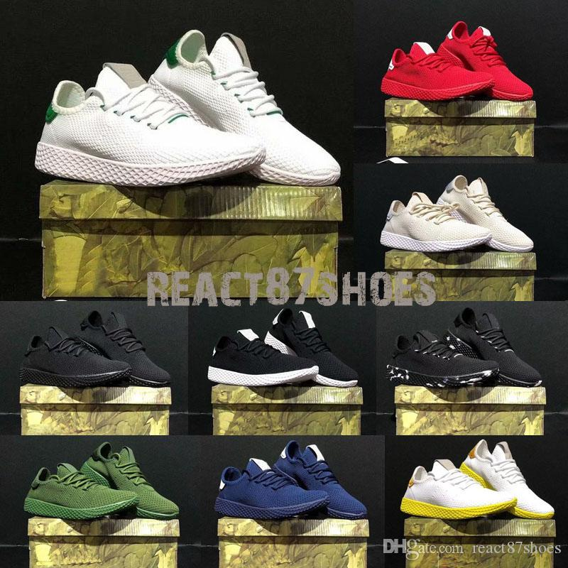 official photos 821bd 6d4b9 2019 2018 Pharrell Williams X Stan Smith Tennis HU Primeknit Men Women  Running Shoes Sneaker Breathable Boost Runner Sports Shoes Eur 36 45 From  ...