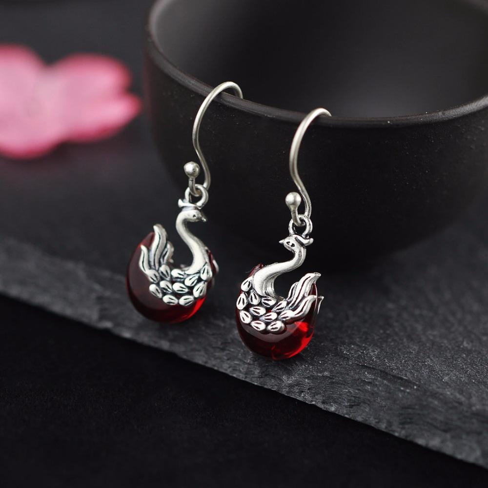 f1ec3ab7a 2019 L&P Thailand Vintage Peacock Red Corundum Earrings 100% 925 Sterling  Silver Earrings For Women Vintage Style Jewelry From Viulue, $90.06 |  DHgate.Com