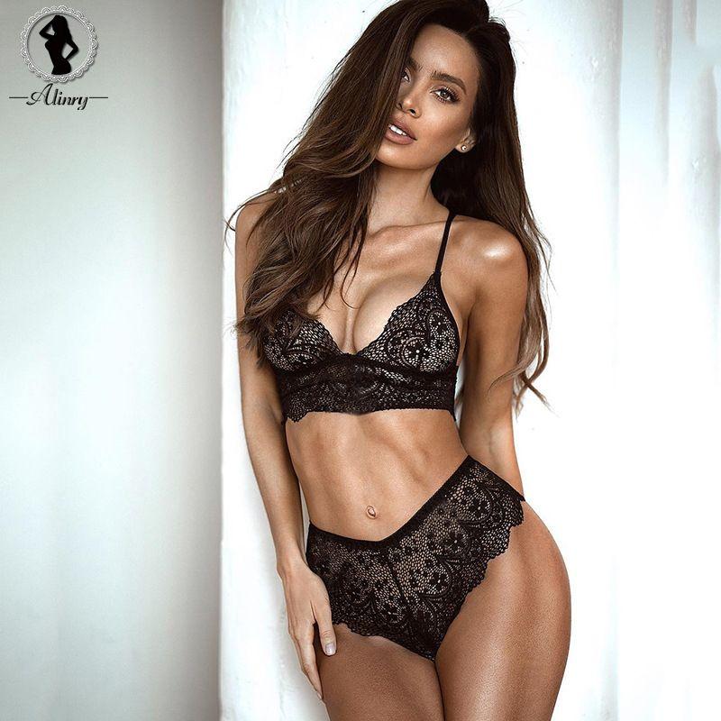1091763bc7c3b 2019 ALINRY 2018 Sexy Push Up Bra Set Seamless Bras Plus Size Black Lace  Bralette Erotic Lingerie Adjustable Women S Underwear Sets From Xiatian6
