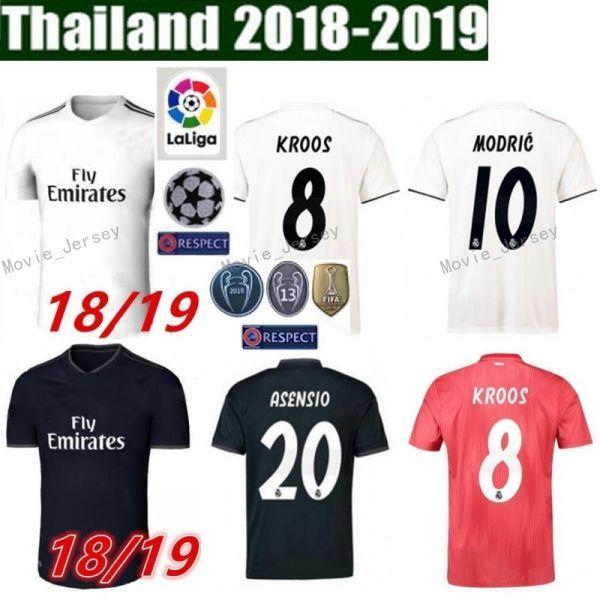 c71742361 2019 2018 2019 Soccer Real Madrid Jersey Men La Liga 4 SERGIO RAMOS 10  MODRIC 11 BALE 20 ASENSIO 22 ISCO Football Shirt Kits From Movie jersey