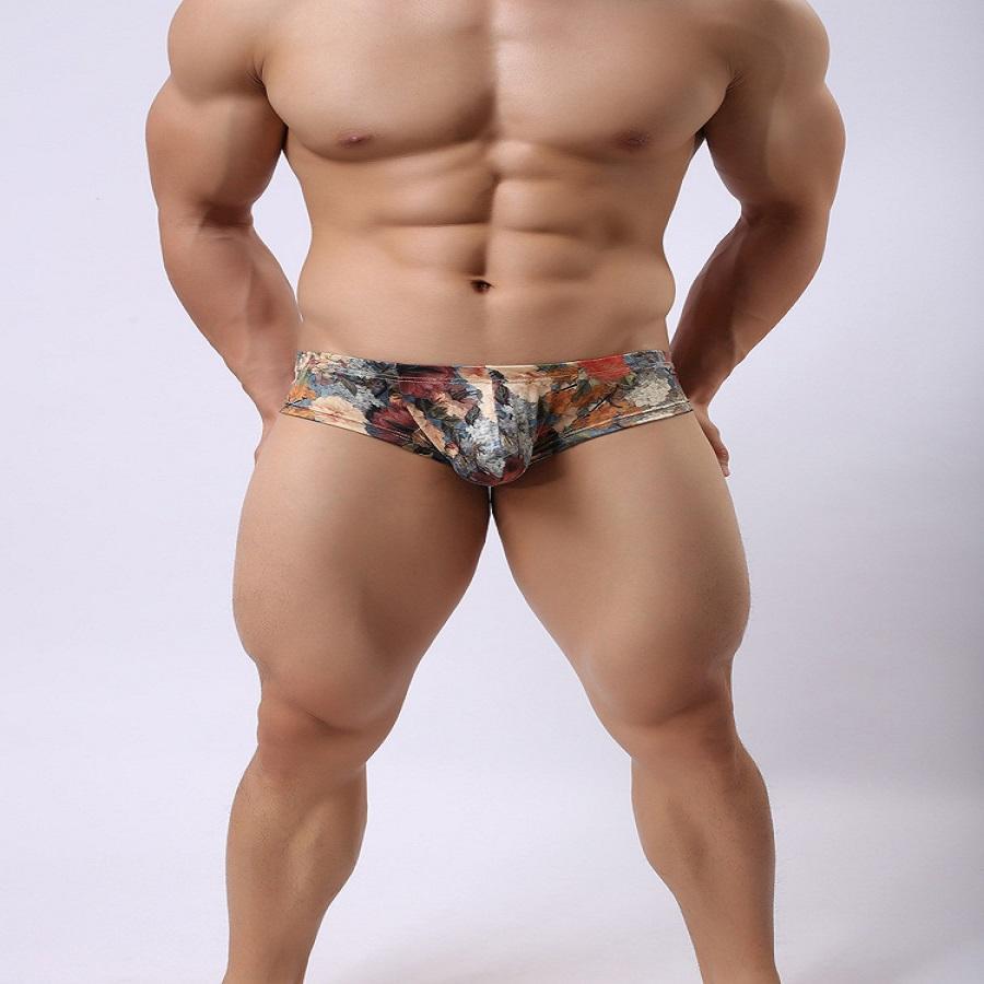 e40b02046ad Acheter Usine Prix Sexy Hommes Sous Vêtements Boxer Mens Taille Basse Howe  Ray Impression Hommes Crémeux Lait De Soie Pantalons Petits Boxeurs