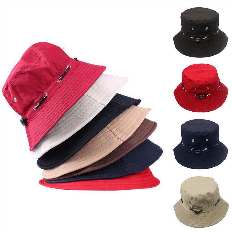 77f07bc30a1 CALOFE Hip Hop Summer Caps Beach Sun Fishing Bucket Hat Fashion Women Cap  Unisex Bucket Hat Solid Hats For Women Men Headwear Felt Hat From  Rainbowwo