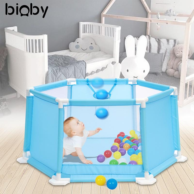 47b0b39a6bb2e 2019 110CM Baby Playpen Portable Plastic Kids Safety Play Center Yard Home  Indoor Outdoor Pen Fence For Child Play Tent Ball Pool From Vanilla14