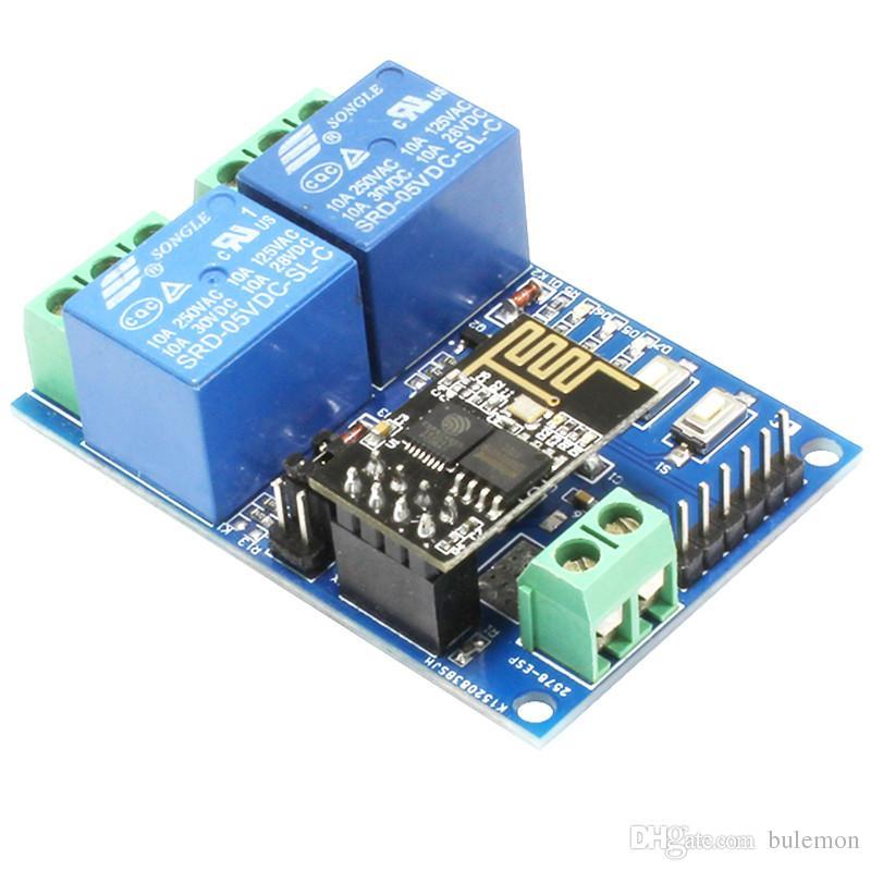 4a094dba143 Compre 5V ESP8266 ESP 01 Módulo De Relé De 2 Canais WiFi 2 Channel Módulo  De Relé Para IOT Casa Inteligente APP Controlador De Telefone De Bulemon