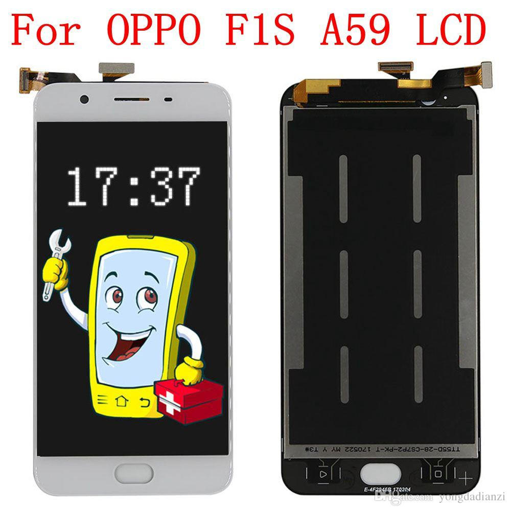 Aaa 100 Tested 55 Display For Oppo F1s Lcd Screen Tempered Glass Full Layar With Touch Digitizer A59 A1601 Replacement Parts