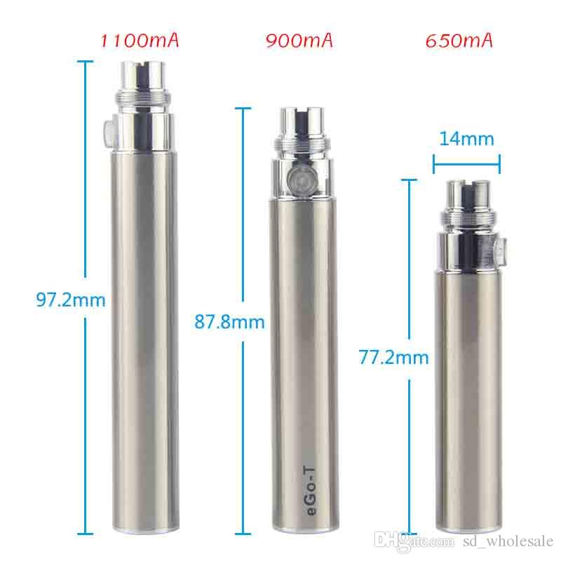 Real Capacity Ego t Battery Electronic Cigarette 510 battery Atomizer Clearomizer Vaporizer Fits CE4 MT3 CE5 CE6