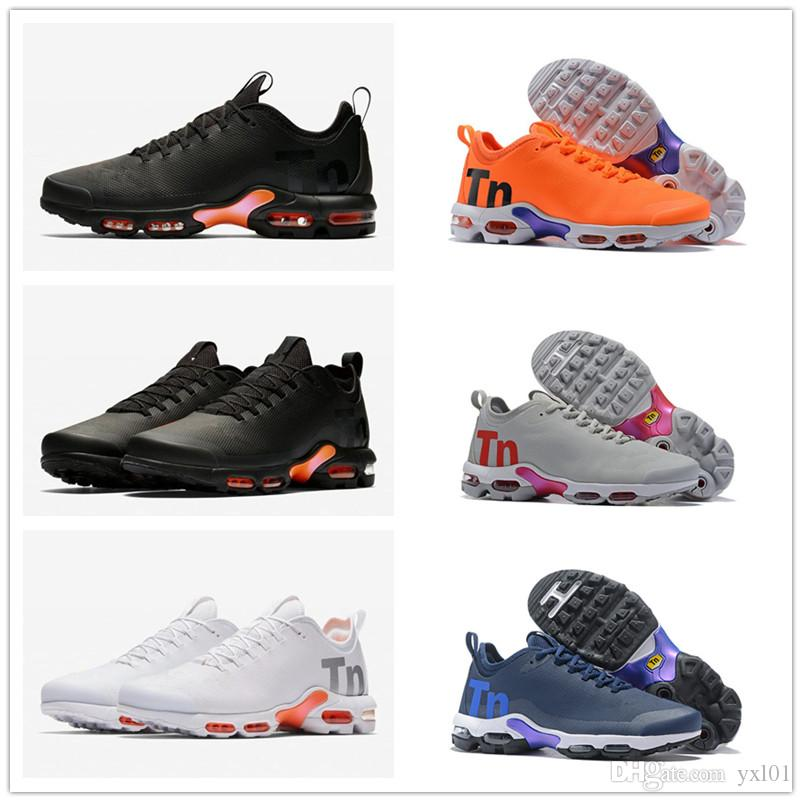 2018 New Mercurial Plus Tn Ultra SE Black White Orange Running Shoes High  Quality Chaussures Women Mens Trainers Sports Sneakers Size 36 46 Athletic  Shoes ... 37bed25be