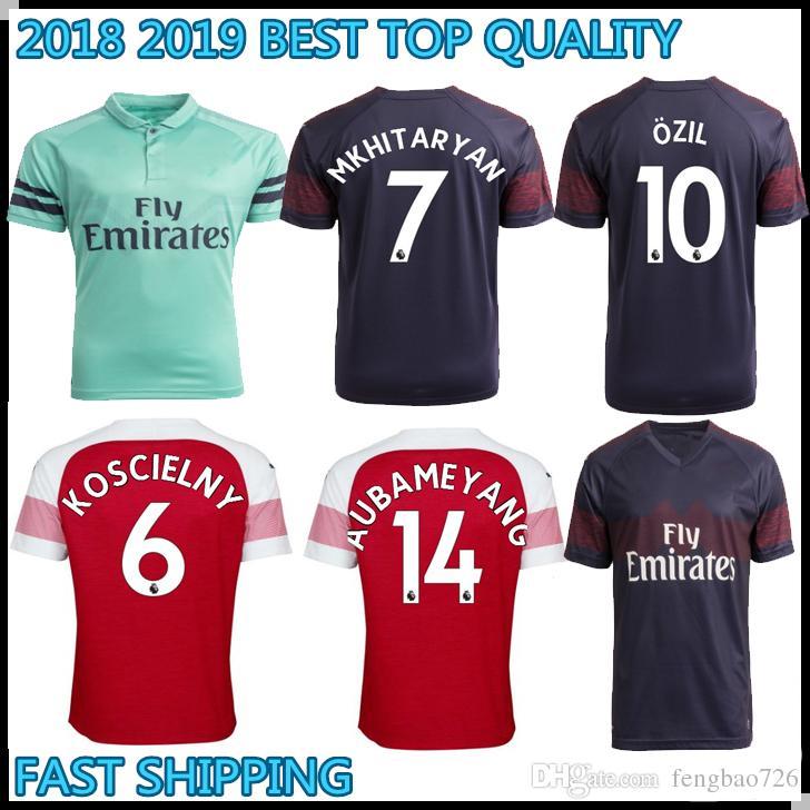 cheap for discount 44c53 432b2 18 19 top quality Arsenal LACAZETTE AUBAMEYANG soccer jersey MKHITARYAN  football shirt 2018 2019 Camiseta de futbol Ramsey OZIL maillot foot