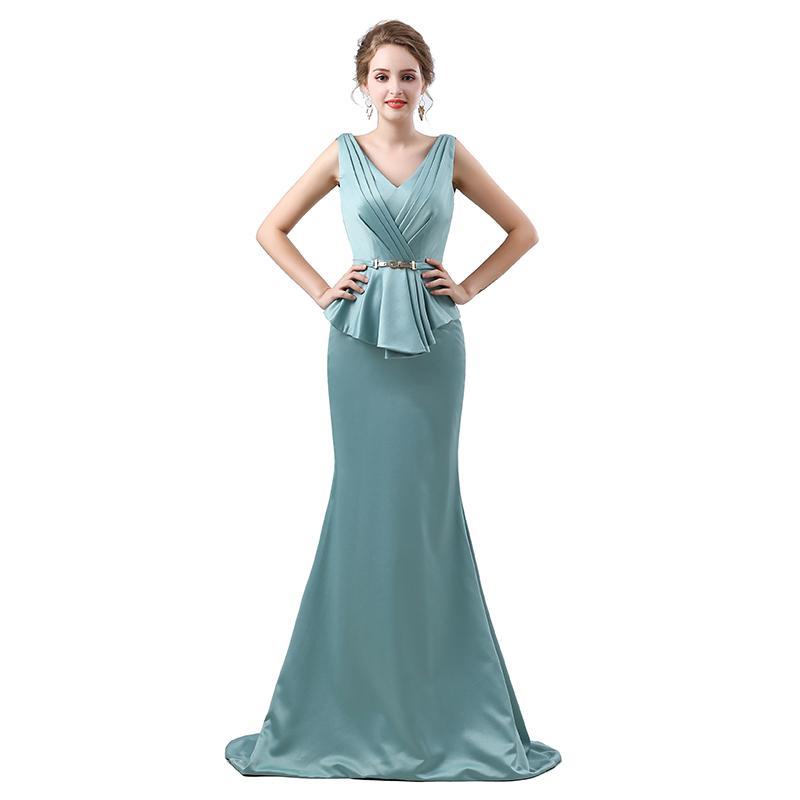 compre más el tamaño verde 2019 vestidos para madre de la novia