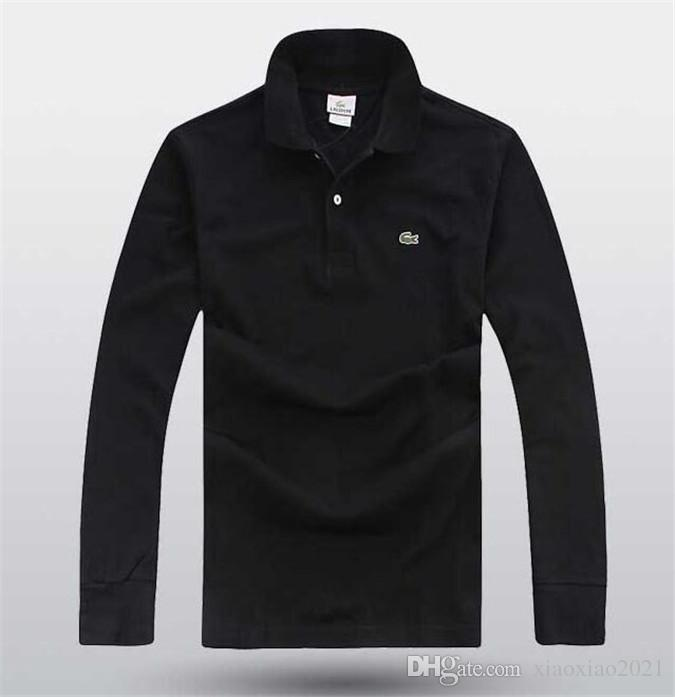 3c3052b35ba Cotton Black Polo Shirt Mens Long Sleeve 2019 Summer Casual Solid Male Polo  Shirts Slim Fit Polos For Men T Shir T Sh From Xiaoxiao2021