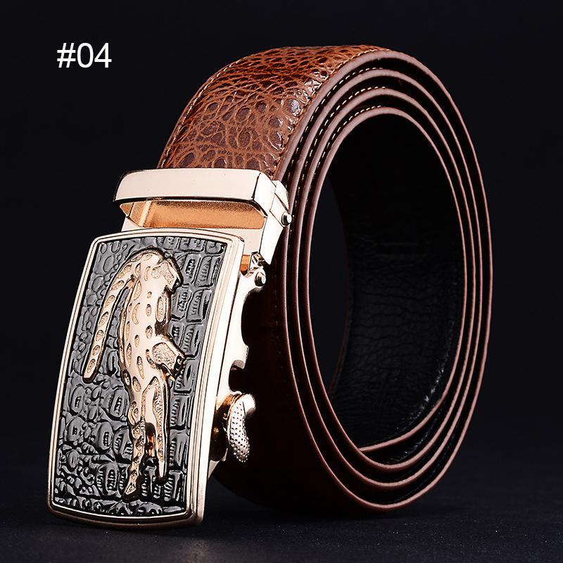 Compre Cinturones De Cuero De Vaca De Lujo Para Hombres Hebilla Automática  Cinturón De Diseñador De Calidad Correa De Cintura De Patrón De Cocodrilo  De ... 0b2d9eb12c12