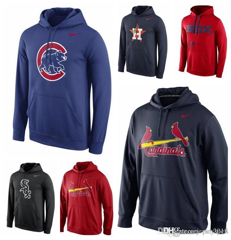best service 77e52 71832 Men's Chicago Cubs Chicago White Sox St. Louis Cardinal Houston Astros  Royal Logo Performance Pullover Hoodie