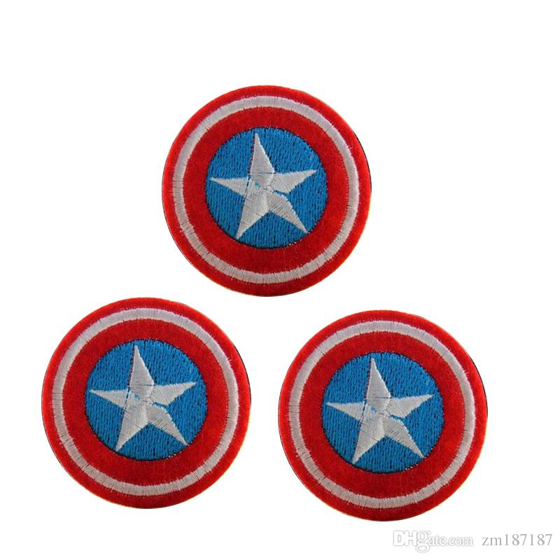 Captain America HOT SALE! Captain America Iron On Patches Made of Cloth Appliques Guaranteed 100% Quality sew on patch GP-006