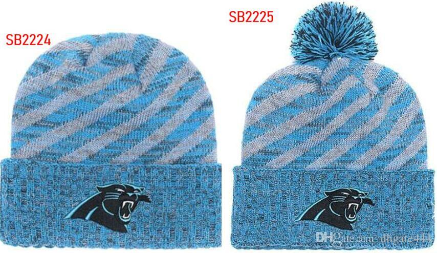 64cc178e80f814 2019 Winter Hat Panthers Beanie Stripes Sideline Cold Weather Graphite  Sport Knit Hat Wool Bonnet Warm Official Reverse Cap Beanie From Dhgate444,  ...