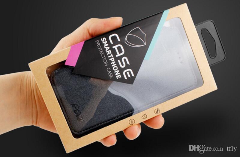 Paquete de venta al por menor Universal de lujo Caja de embalaje OEM Personalizado kraft Cajas de papel para el caso del teléfono iphone X 8 7 6 6 s más 5S SAMSUNG Galaxy S7 S8