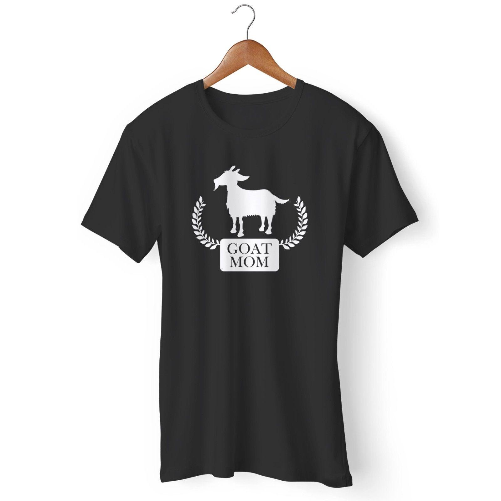 4c055d69 Goat Mom FUN Crazy Goat Tee Goat Lovers Man's / Woman's T-Shirt Funny free  shipping Unisex Casual tee gift