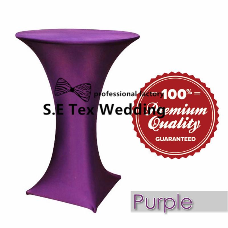 Lycra Spandex Cocktail Table Cover \ Wedding Table Cloth For Party Event Decoration