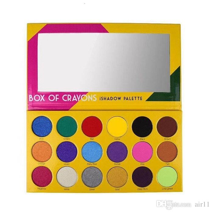 New makeup Palette!BOX OF CRAYONS Cosmetics Eyeshadow Palette 18 Colors iSHADOW Palette Shimmer Matte EYE beauty DHL shipping