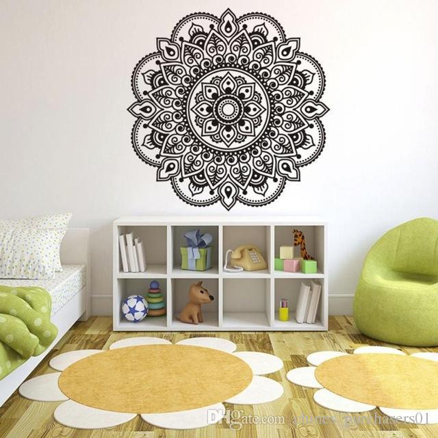 Acquista Adesivi Murali Creativi Mandala Flower Camera Da Letto ...