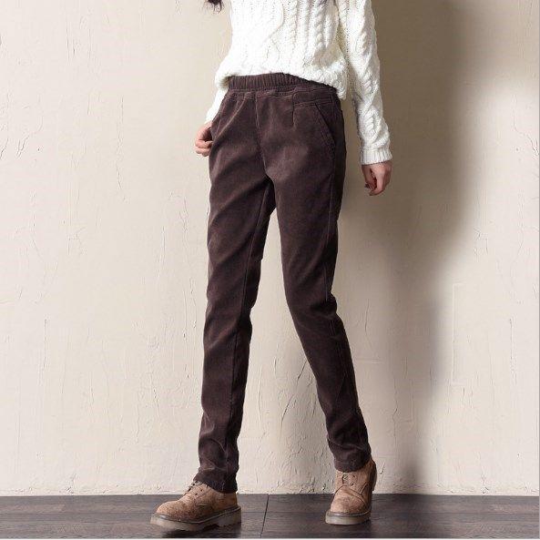Compre Otoño Primavera Mujer Pantalones De Pana Pantalon Mujer Pantalones  Harem De Cintura Elástica Casual Pantalones De Chándal Pantalones Regulares  Negro ... 08126a9d2789
