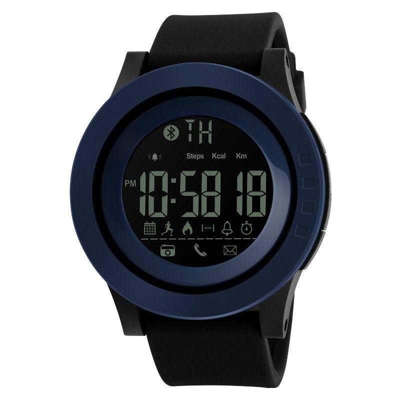 cdb4d04f869 Compre Skmei Homens Pulseira De Plástico Relógios Multi Função De Calorias  Pedômetro Digital Bluetooth Distância Do Relógio Remoto Camera Relogio  Masculino ...
