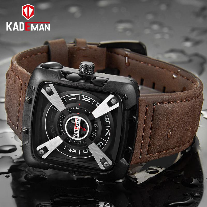 9f9751b3940 KADEMAN Men Watches Top Brand Waterproof Military Sport Watches Quality  Leather Band Fashion Male Wristwatches Relogio Masculino Online Shopping  For Watches ...