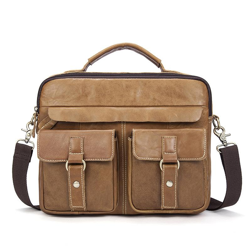 b64244840b Vintage Male Genuine Leather Men S Bag Crazy Horse Men Messenger Shoulder  Luxury Handbag Crossbody Bags Designer Hand Made Totes Ladies Handbags  Leather ...
