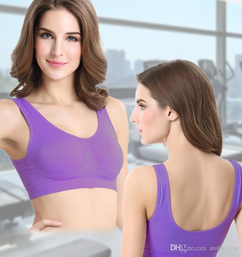 3efa022b531e1 2019 Sexy Underwear Seamless Ladies Ahh Bra Sizes Sport Bras Yoga Bra  Microfiber Pullover Bra Body Shape 6 Size A778 From Avonavon