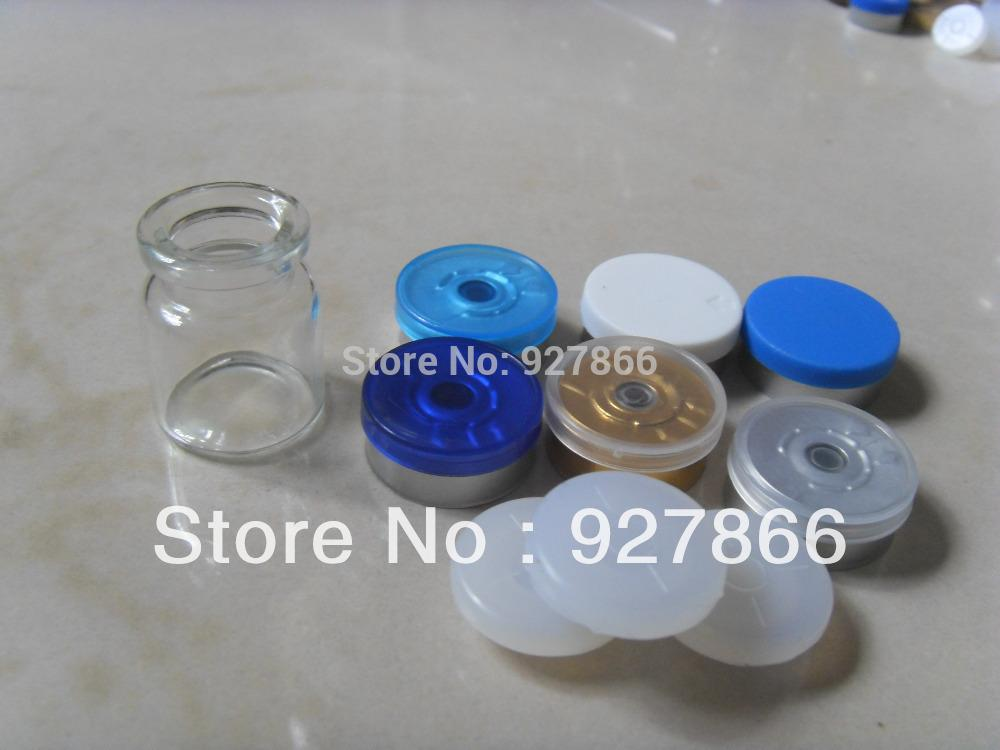 6bae59e67699 Wholesale- 100sets 5ml Clear Glass Vials Silicone Stopper Flip Off Caps,  Essence glass bottles with Crimp Neck,100% New