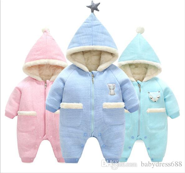 1d4596a5943c 2019 Kids Clothing New Autumn And Winte Thick Warm Baby Onesies ...