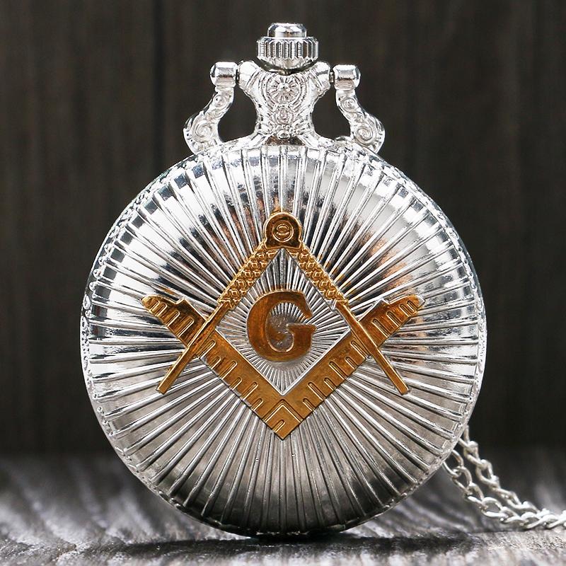 619655f78b3727 Pedreiros de Venda quente Maçonaria Relógio de Bolso Mulheres Homens  Pingente Vintage G Gob Relógios Presente