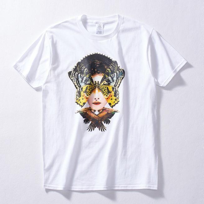 Весна и лето новый прилив Марка молодежь свободные коротким рукавом мужская мода абстрактный глава печати футболка