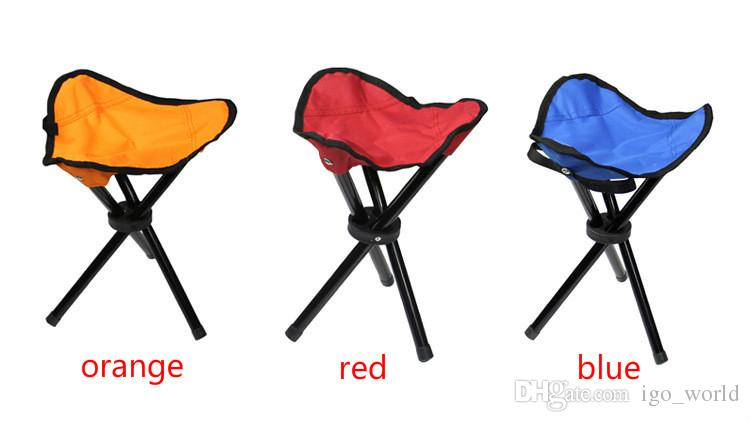 Portable chair Pocket stool Fishing Camping Furniture 22x22x31cm Convenient Folding Stools fishing Cushion Three feet Folding Chair
