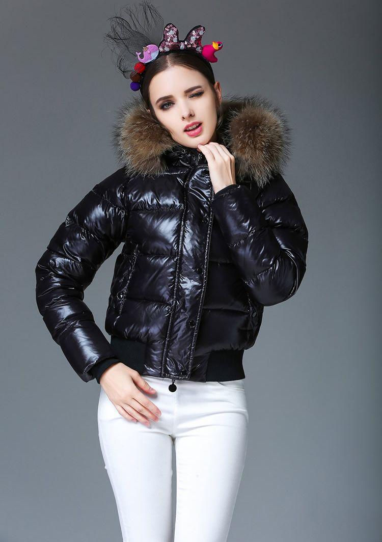 5cd2adcc2 Cheap Down Jacket Woman Hooded Big Fur Collar Brand Womens Down Jackets  Warm Woman Parka Lady Coat Winter Jacket Coat
