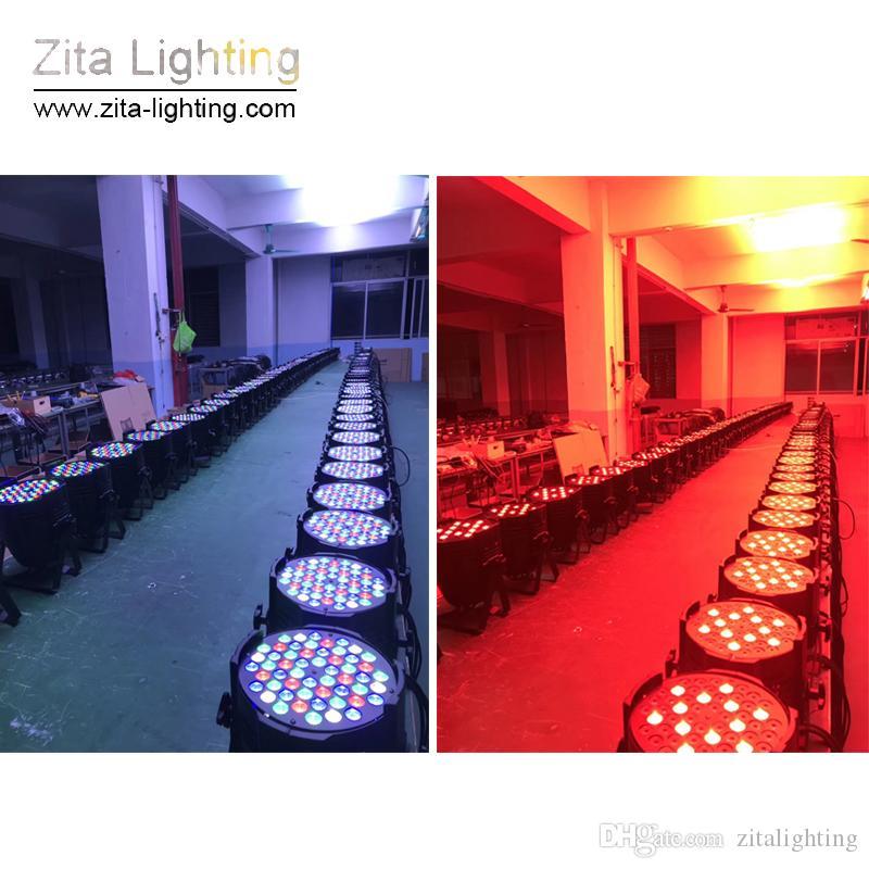 4 Pçs / lote Iluminação Zita Luzes Par Parga Par64 Iluminação RGBW Par Pode Construir Arruela Da Parede 54X3 W DMX512 Discoteca DJ Efeito Festa de Casamento