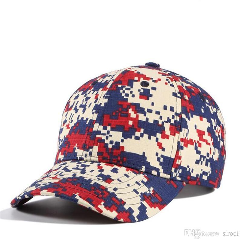 d6a3bcebac272 Compre Gorra De Béisbol De Camuflaje De La Moda Militar Del Ejército  Sombreros De Camuflaje Personalizada Llanura 100% Sombrero De Algodón  Hombres Mujeres ...