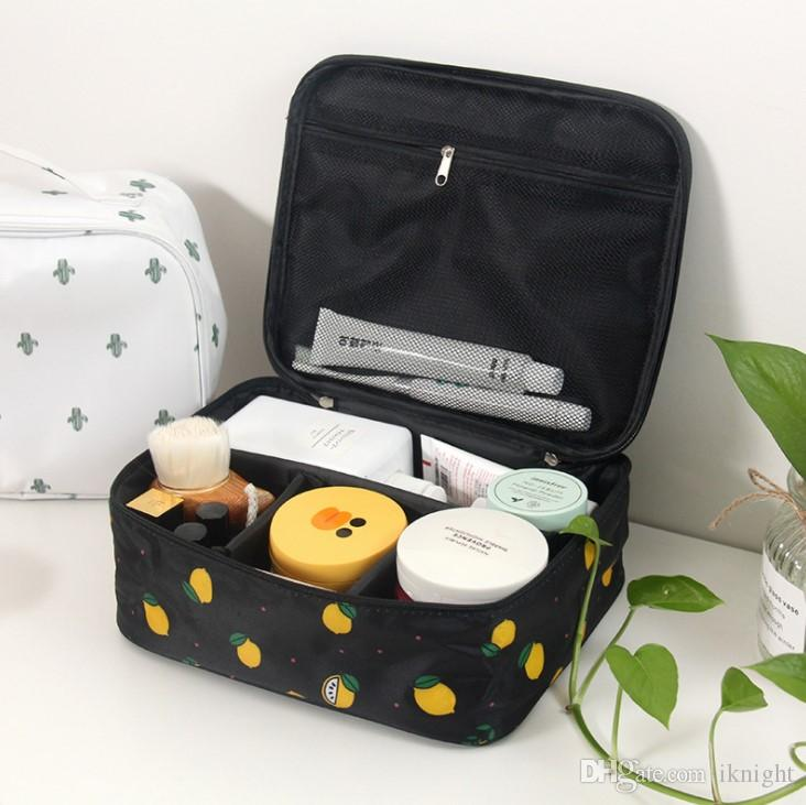 a930a2ee04dd Brand organizer travel fashion lady cosmetics cosmetic bag beautician  storage bags large capacity Women makeup bag
