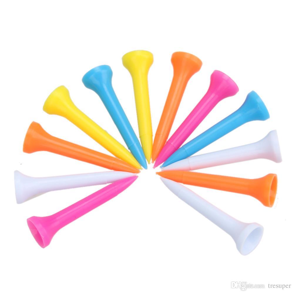 / set 42mm multi couleur en plastique tees de golf en caoutchouc coussin top golf tee accessoires de golf
