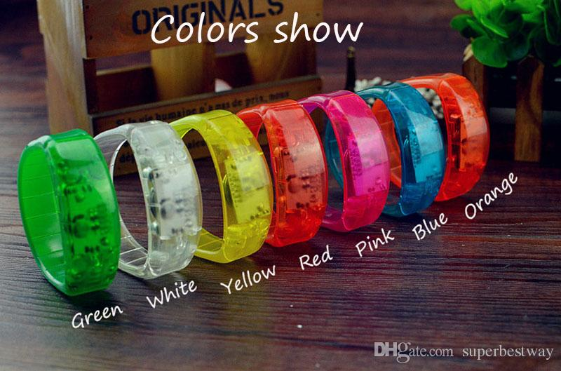 world cup Music Activated Sound Control Led Flashing Bracelet Light Up Bangle Wristband Club Party Bar Cheer Luminous Hand Ring stick OTH911