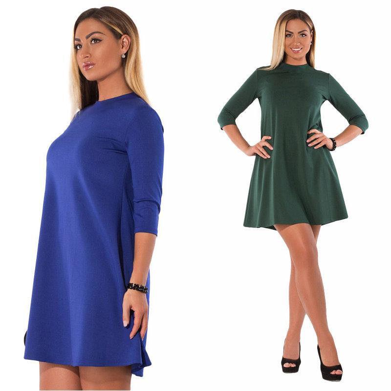 88d1064ca03 L-6XL Plus Size Dress Half Sleeve for Women 2018 Summer Autumn ...