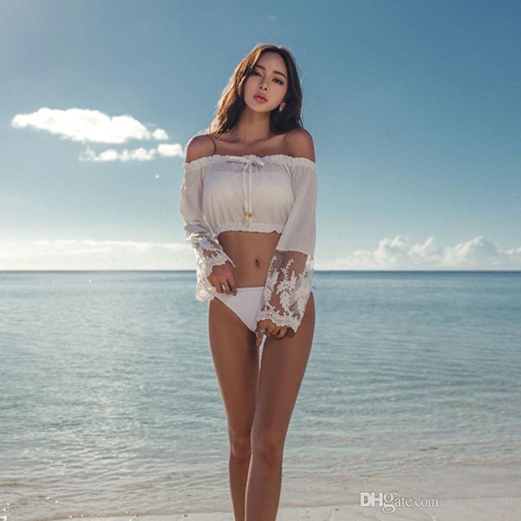 Neue europäische und amerikanische Split Rock Badeanzug sexy Spitze dreiteilige Badeanzug weibliche Europa und die Vereinigten Staaten Burst Modelle Bikini