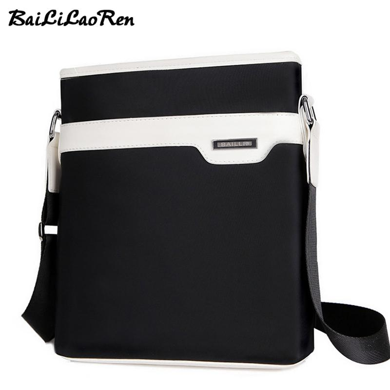 8f5d8c7894 BaiLiLaoRen 2017 Men Nylon Shoulder Bags Waterproof Male Casual Business  Messenger Bag Brand Vintage Travel Men S Crossbody Bags Large Handbags  Black ...