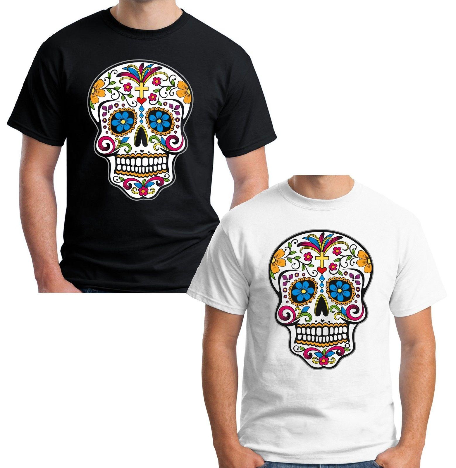 ca25ed585 Velocitee Mens Sugar Skull T Shirt Tattoo Style Dia De Los Muertos V164  Online with $13.15/Piece on Beidhgate03's Store | DHgate.com