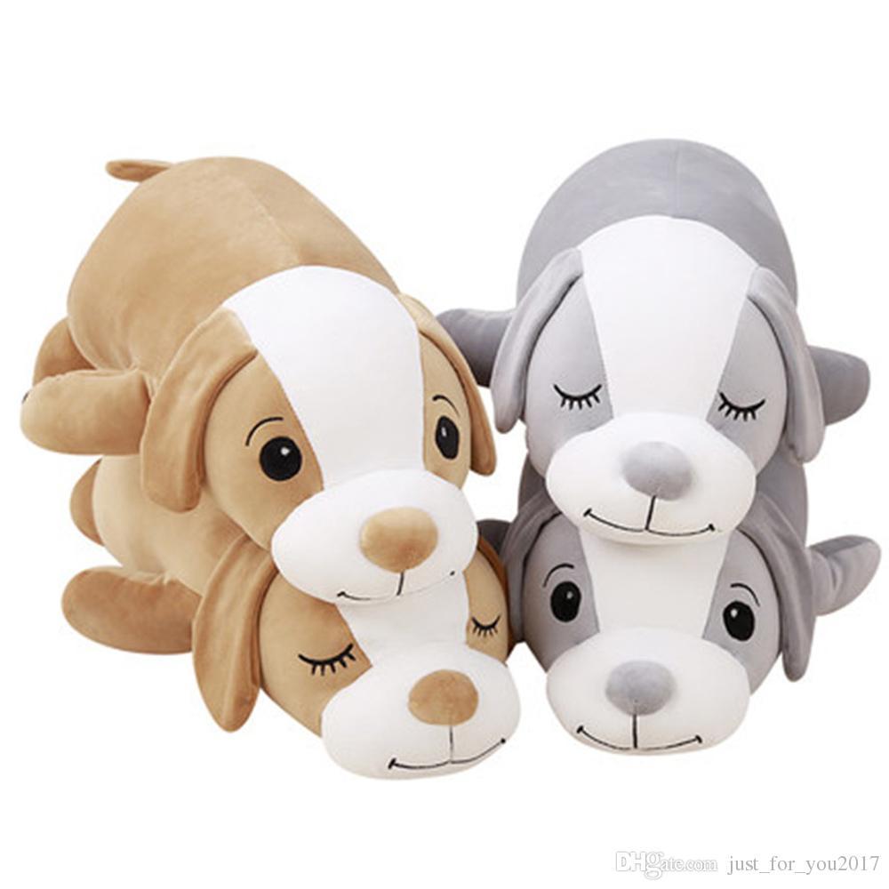 2019 Big Plush Long Body Dog Pillow Toys Soft Stuffed Giant Animals