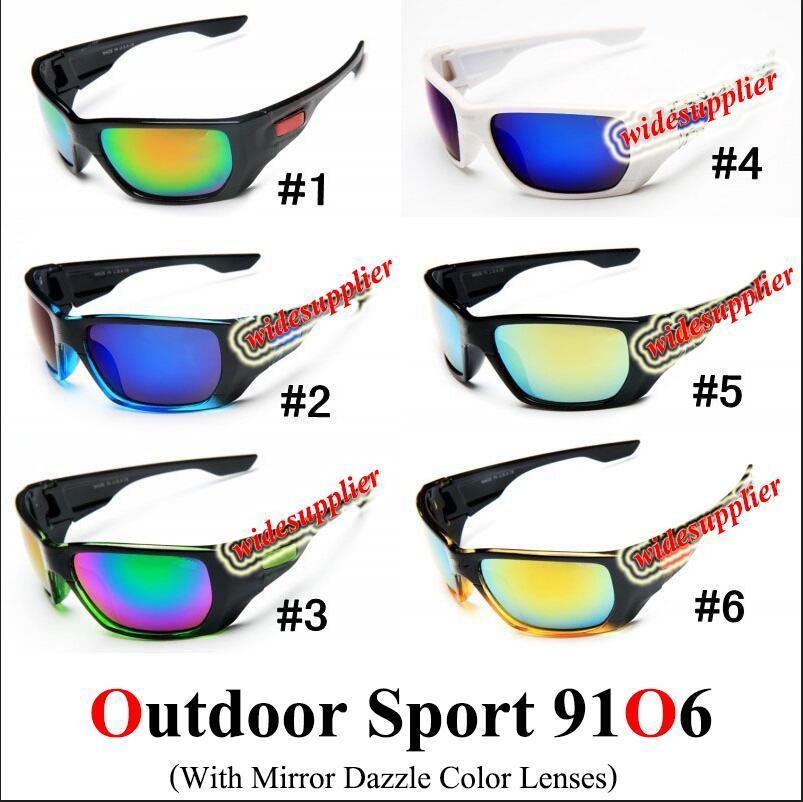 جديد الرجال أزياء الرجال دراجة دراجة النظارات الرياضية نظارات القيادة نظارات شمسية الدراجات 9 ألوان نوعية جيدة 9106 12 ألوان