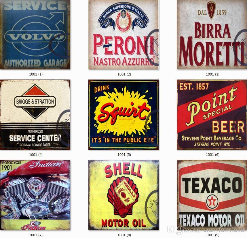 Tin Signs Collection Shell Route 66 Vintage Wall Art RetroTIN SIGN Old Wall Metal Painting ART Bar Man Cave Pub Restaurant Home Decoration