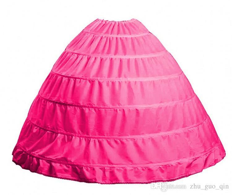 9 Renk Mevcut Toptan Geniş 6 Çemberler Petticoat Balo Kabarık Etek Jüpon Düğün Aksesuarları Jupon Mariage Için