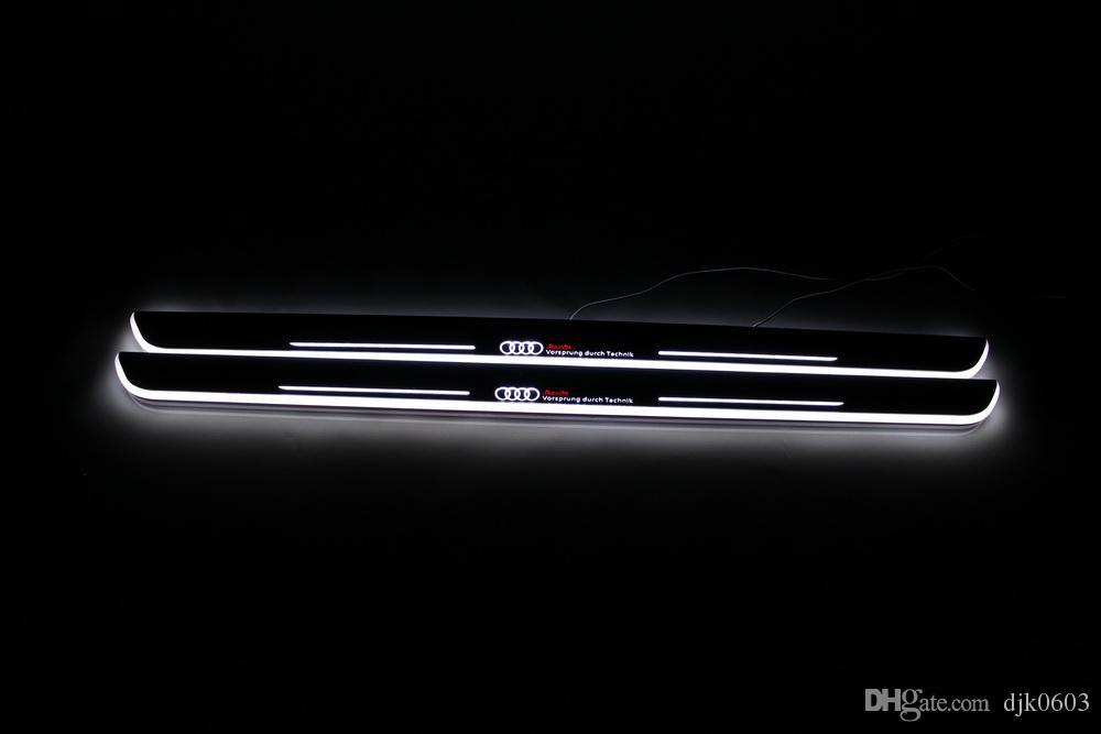 Pédale de menuiserie à DEL pour Audi Q3 2013-2015, seuil de porte en acrylique, pédale de bienvenue