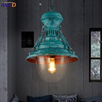 IWHD Nordic Style Iron Pendant Lamp Vintage Industrial Lighting ...